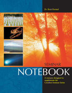 Creation Science Evangelism - Notebook