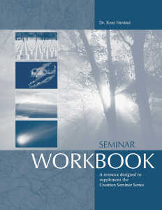 Creation Science Evangelism - Seminar Workbook
