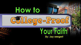 Origins - 1506 How to College Proof Your Faith